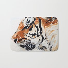 TIGER IN WATERCOLOR Bath Mat