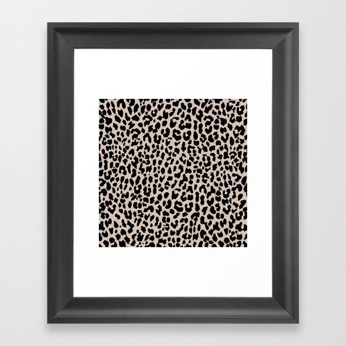 Tan Leopard Gerahmter Kunstdruck