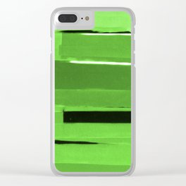 Green Monochromatic Clear iPhone Case