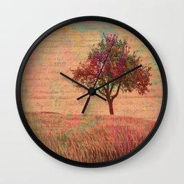 The Kissing Tree, Landscape Art Wall Clock