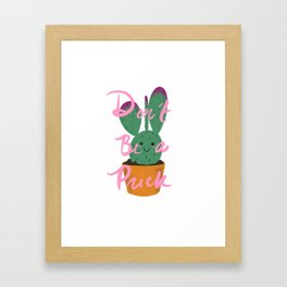 Cactus Friend Framed Art Print