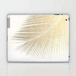 Palm leaf synchronicity - gold Laptop & iPad Skin