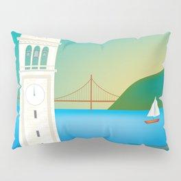 Berkeley, California - Skyline Illustration by Loose Petals Pillow Sham