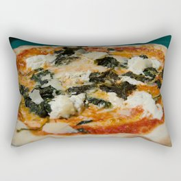 genuine happiness is pizza Rectangular Pillow