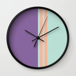 Minimal Abstract Apricot Purple SeaGreen 05 Wall Clock