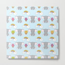 Cute elephants Metal Print