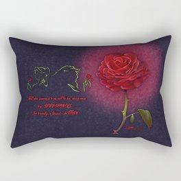 Beauty and the Beast - Enchanted Rose Rectangular Pillow