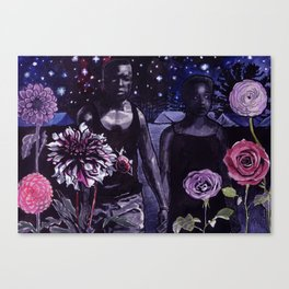 the flowers bloom even at war Canvas Print