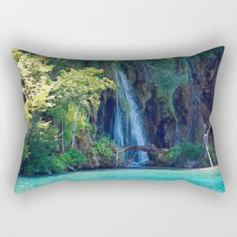 Tearful Rock Rectangular Pillow