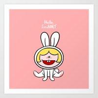 Rabbit Ninly  Art Print