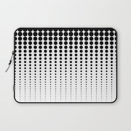 Reduced Black Dots on Solid White Background Illustration Digital Artwork Laptop Sleeve