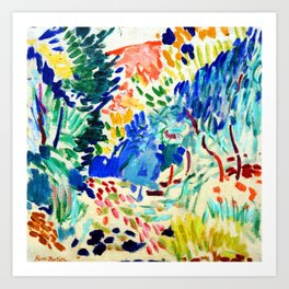 Henri Matisse Landscape at Collioure Art Print