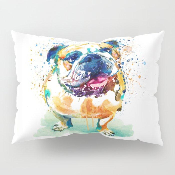 Watercolor Bulldog Pillow Sham