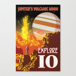 Io - Jupiter's Volcanic Moon Canvas Print