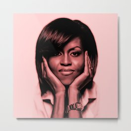Michelle Obama - Celebrity Art (Sexy Eyes) Metal Print
