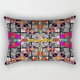 Criss Cross pattern hot pink Rectangular Pillow