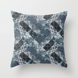 Combined ethnic pattern. Patchwork.2 Throw Pillow
