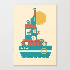Owl Aboard Canvas Print