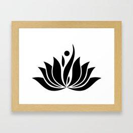 Black Logo Framed Art Print