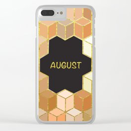 Cubes Of August Clear iPhone Case
