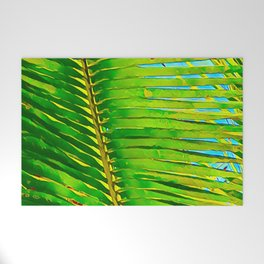 Coconut Frond in Green Aloha Welcome Mat