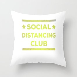 Social Distancing Club  Virus Throw Pillow