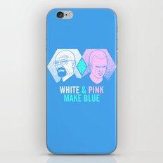 WHITE & PINK MAKE BLUE iPhone & iPod Skin