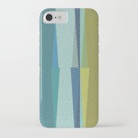 mid century iPhone & iPod Cases featuring Mid Century Herringbone 1 by David Andrew Sussman