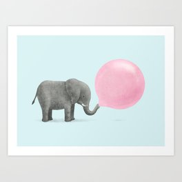 Jumbo Bubble Gum Art Print