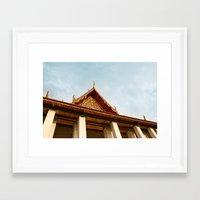 thailand Framed Art Prints featuring Thailand by Michelle Frances Deacon