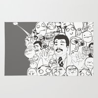 meme Area & Throw Rugs featuring Meme P&B by neicosta