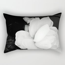 White Rose Rectangular Pillow