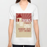 lilo and stitch V-neck T-shirts featuring Ohana Means Family - Lilo & Stitch by Crafts and Dogs