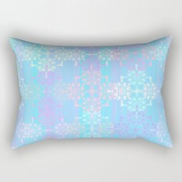 Soft Blue Lace Rectangular Pillow