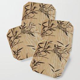 Japanese bamboo buddha wood art Coaster