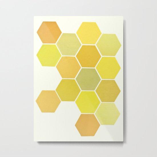 Shades of Yellow Metal Print