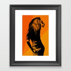 Iron Lion Zion Framed Art Print