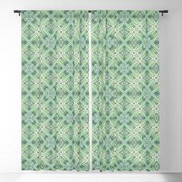 turquoise kaleidoscope pattern Blackout Curtain