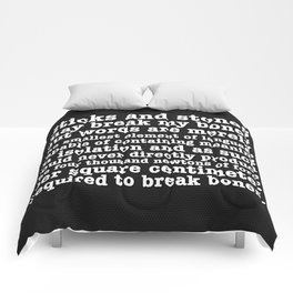 Sticks and Stones Comforters