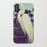 crane iPhone & iPod Cases featuring Crane by Haily Melendez