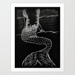 Midnight Mermaid Art Print