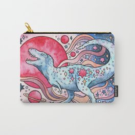 Star Rex | Cosmic Dinosaur Watercolor Carry-All Pouch