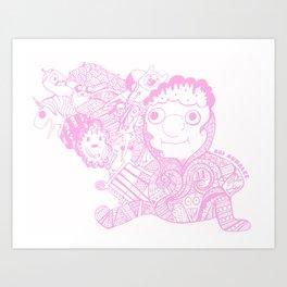 """""""Lemon Hope"""" AdventureTime Fan Art in PINK Art Print"""