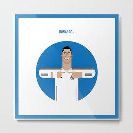 Cristiano Ronaldo Real Madrid Illustration Metal Print