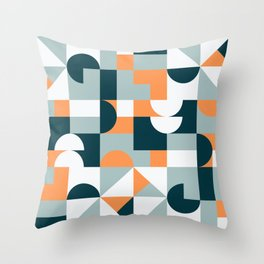 Mid Century Modern Geometric 22/2 Throw Pillow