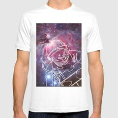 Starman MEDIUM White Mens Fitted Tee