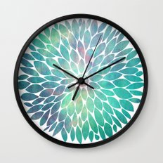 Watercolor Flower Wall Clock