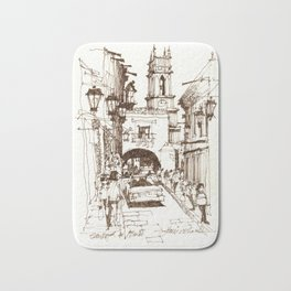 Street life, San Miguel de Allende Bath Mat