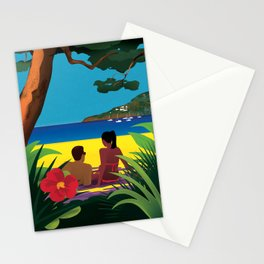 A Shaded Beach Stationery Cards