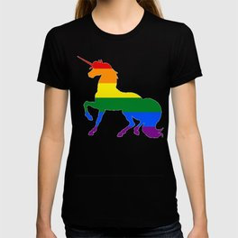 Gay Rainbow Unicorn LGBT shirt T-shirt